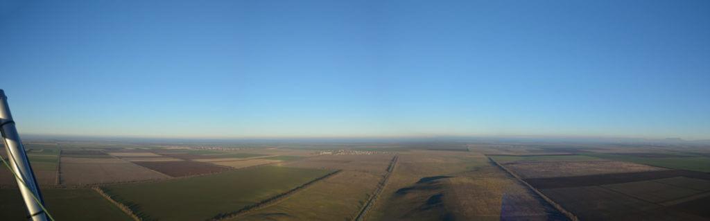 Панорама с аэрошюта